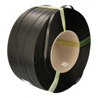 Omsnoeringsband PP 12x0,55 mm x 3000 mtr, zwart, kern 200