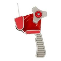 Tapedispencer metaal met rem, rood