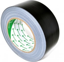 Nichiban cloth tape nt1200, 100 mm x 50 m, zwart