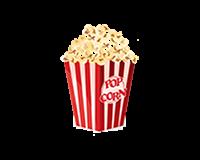 Amerikaanse/Authentieke popcornmachine met popcorn!